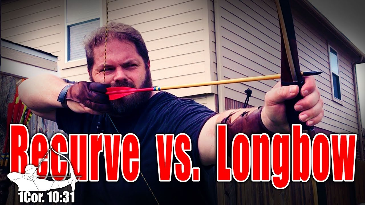 Longbow vs Recurve, unboxing & shooting a New Wood longbow!