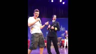 Backstreet Boys - Game Night (Kevin and Nick dance Straight through my heart ) Cruise 2016 Europe