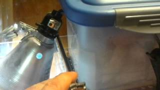 Diy Pvc Overflows With Algae Scrubber Sump On Freshwater Fish Tank.mp4