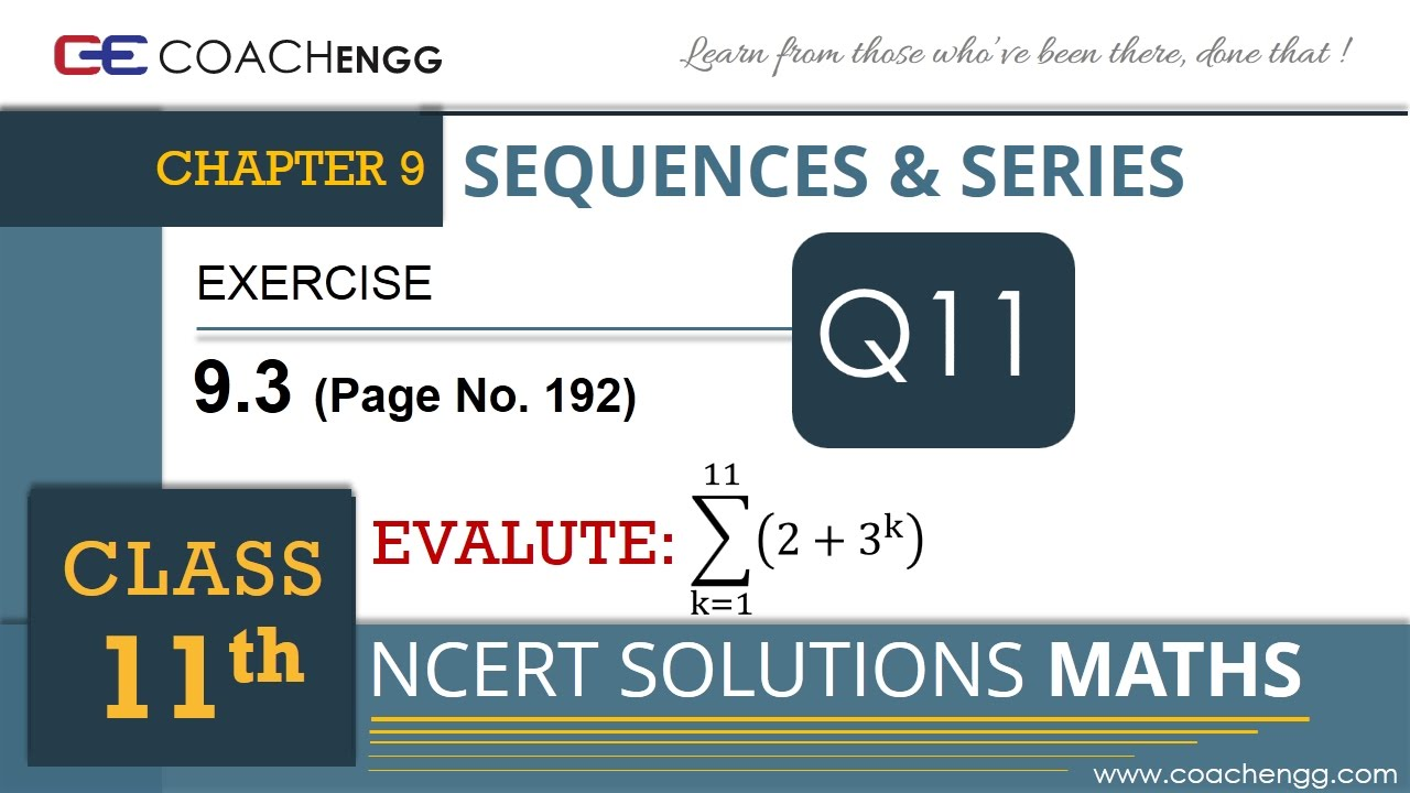 SEQUENCES AND SERIES Exercise 9.3 Q11 Class 11 MATHS NCERT Solution ...