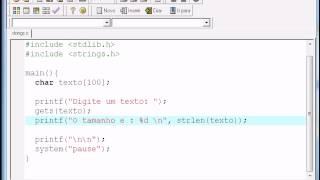 Repeat youtube video Programação C - Aula11 - Strings (char, strlen, strcmp) Inverso Palindromo