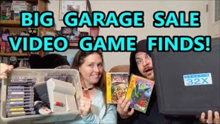 BIG GARAGE SALE VIDEO GAME FIN…