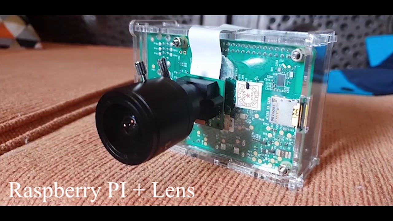 Image Detection using Raspberry Pi 3 + Lens Varifocal M12