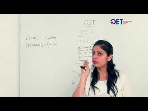 OET Day 1 Material | Writing | Speaking | Occupational English Test