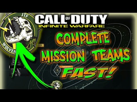 HOW TO RANK UP MISSION TEAMS FAST! - Infinite Warfare - Mission Teams - Rank Up Fast - Complete