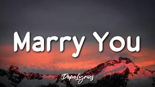 Download Marry You - Bruno Mars (Lyrics) 🎵