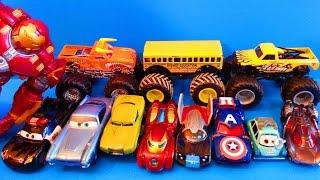 Тачки Молния Маквин Хот Вилс Мстители Автомойка Монстер Мультик про машинки Cars McQueen Hot Wheels