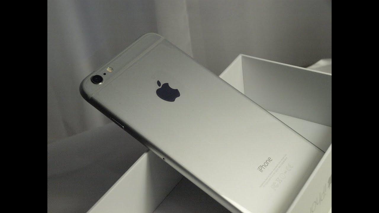 iphone 6 plus 128gb silver white au kddi youtube. Black Bedroom Furniture Sets. Home Design Ideas