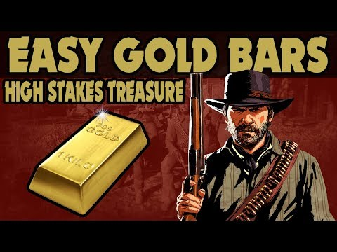 Red Dead Redemption 2 : Fast Easy Gold Guide ( High Stakes Treasure map)