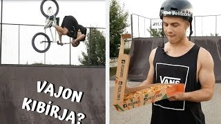 BACKFLIP WITH A PIZZA - Being a delivery boy for a day !!