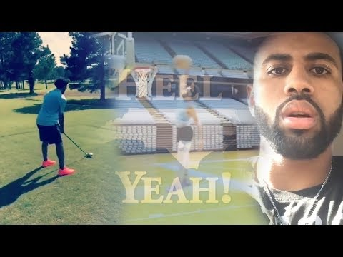 Joel Berry cutting Up with Theo Pinson! Surprises his Mom! Shows good backswing!