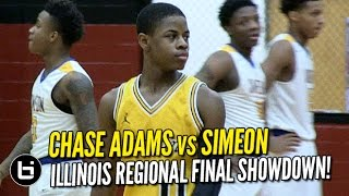 Chase Adams vs Chicago Simeon! INTENSE Regional Final! Full Highlights!