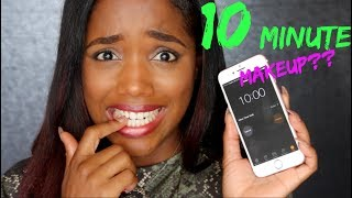 10 MINUTE MAKEUP Challenge .. Did I Pass?! | Ellarie