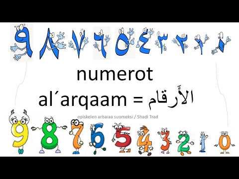 numerot arabiaksi