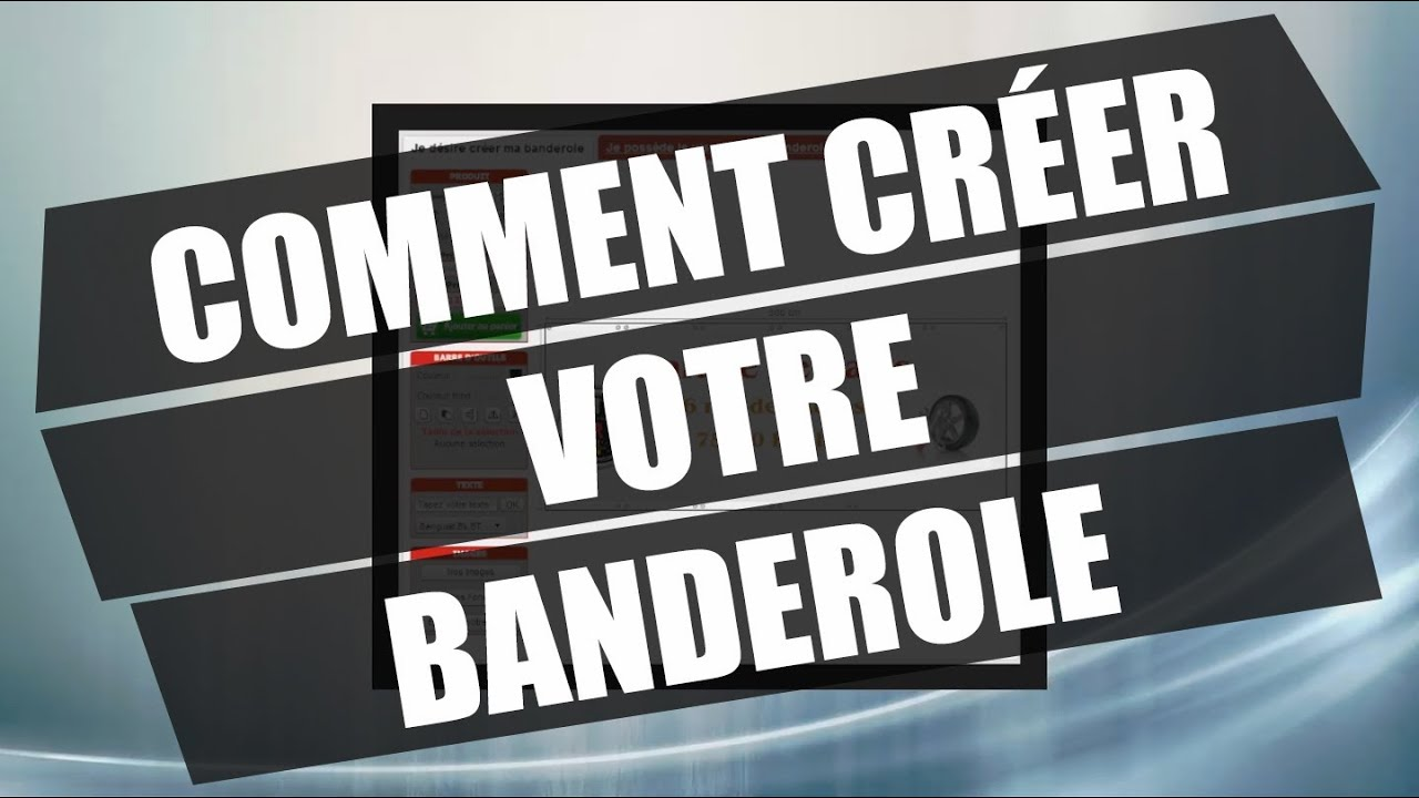 Comment cr er votre banderole mpa youtube - Comment les cambrioleurs reperent ...