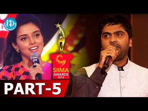 SIIMA Awards 2014 - Part 5 | Simbu - Best Playback Singer for Diamond Girl - Baadshah