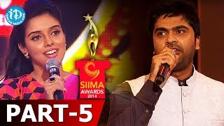 SIIMA Awards 2014 - Part 5 | Simbu - Best Playback Singer for Diamond Girl - Baadshah