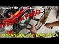 Encendiendo Con la MANIVELA Motor Citroën 2CV - PASO A PASO. start with crank.