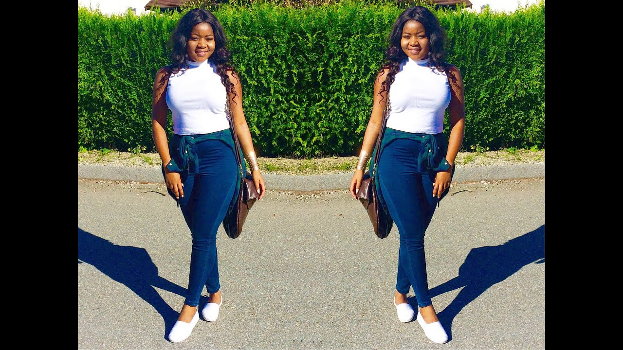 39b3779535 Back To School Outfit Of The Day  Casual Ootd (High Waist Jeans And Crop  Top. SlimThickDiva 12