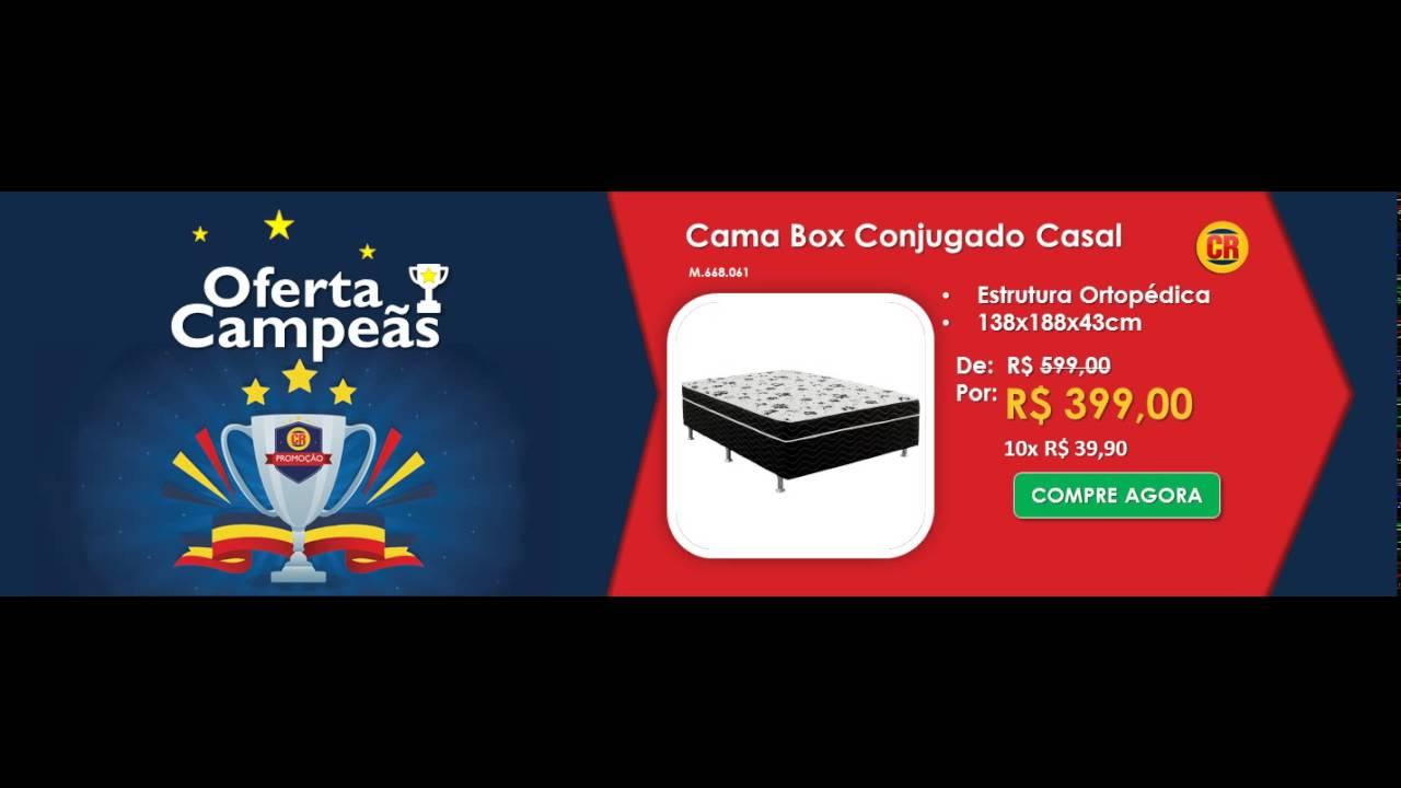 dc90ce9e1f Cama Box Conjugado Casal Ortobom Union Casal Estrutura Ortopédica ...