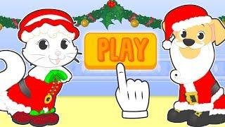 🤶 BABY PETS 🎅 Kira y Max se disfrazan de Santa Claus y Mamá Noel | Dibujos animados de Navidad
