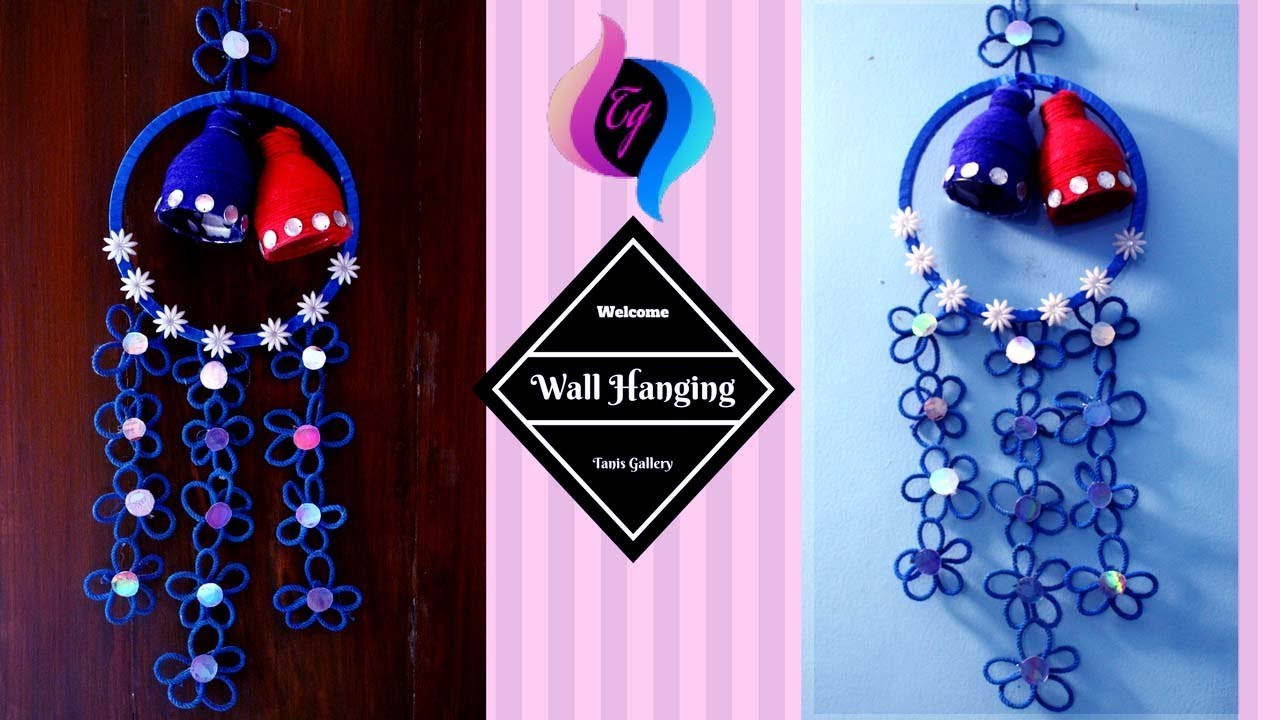How To Make Wall Hangings At Home With Waste Material Handmade