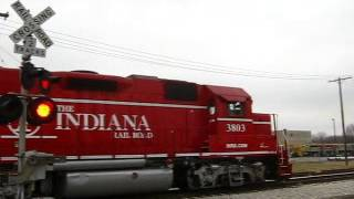 INRD 3803 leads short consist through Linton,IN.3-24-13