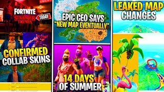 "*NEW* Fortnite MAP Tease, Stranger Things ""Eleven"" Skin, 14 Days of Summer LTM List, & CATTUS INFO!"