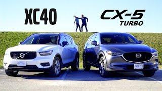 2019 Volvo XC40 vs 2019 Mazda CX-5 Turbo // Attack of the Compacts