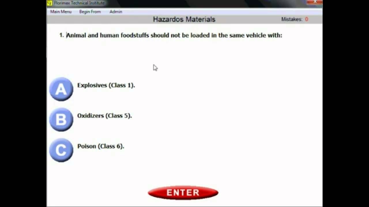 Hazmat Endorsment Testing And Study Guide Youtube