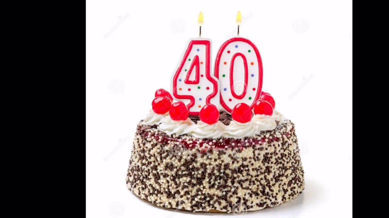 köszöntő 40 születésnapra Boldog 40. születésnapot! Születésnapi köszöntő videó nők számára  köszöntő 40 születésnapra