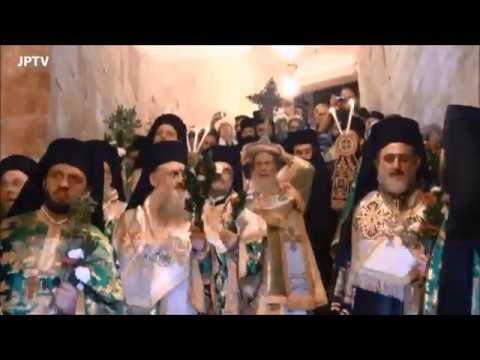 Orthodox Patriarch of Jerusalem celebrates the Rite of Lifting the Cross