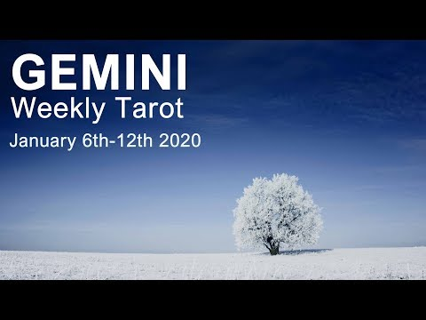 """GEMINI WEEKLY TAROT READING  """"UNEXPECTED OPPORTUNITY GEMINI! POSITIVE SHIFTS"""" January 6th-12th 2020"""