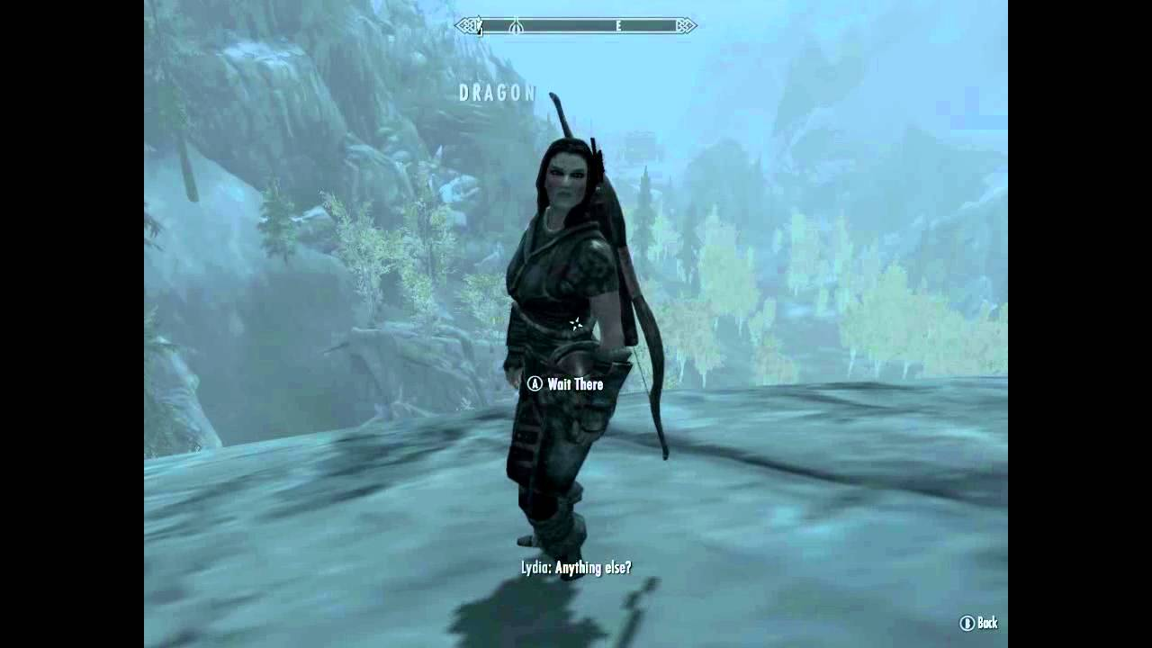 The Elder Scrolls V  Skyrim - Lydia Vs Fus Ro Dah
