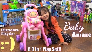 Toy Review Channel: Toy Doll. Vtech Baby Amaze 3 in 1 Play Set Unboxing & Playtime