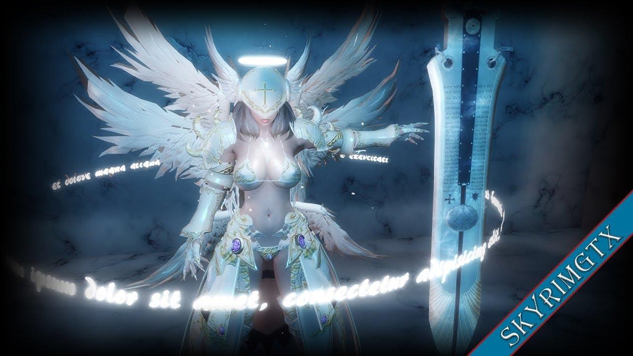Skyrim Angel Armor 090 WIP