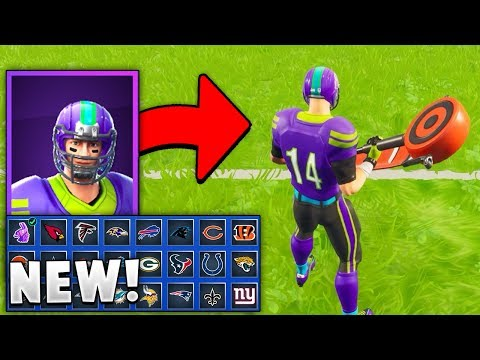 *NEW* NFL Football Skins/Pickaxes in Fortnite! (Changeable Styles!)