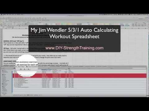 Jim Wendler 531 Workout Spreadsheet