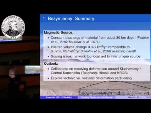 "Ronni Grapenthin: ""Plumbing, Plumes, and Early Warning: GPS near Volcanoes and Fault Zones"""