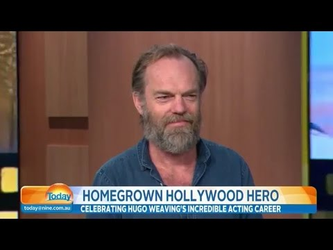 Hugo Weaving on TODAY (21oct15)