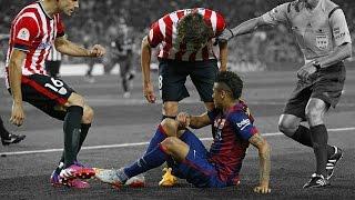 Neymar aplica lambreta, jogadores do Bilbao se irritam