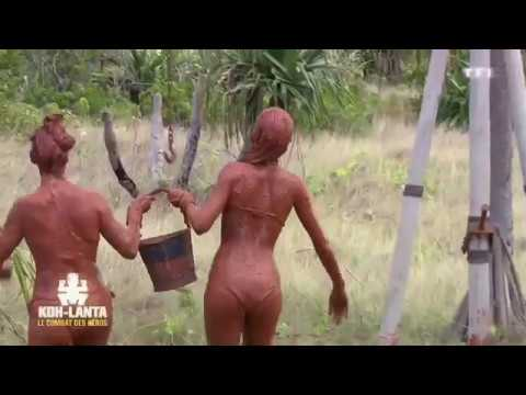SEXY Koh-Lanta épreuve de la boue
