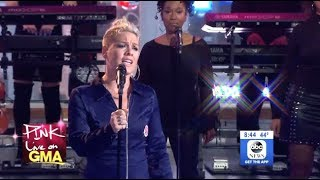 P nk What About Us LIVE GMA