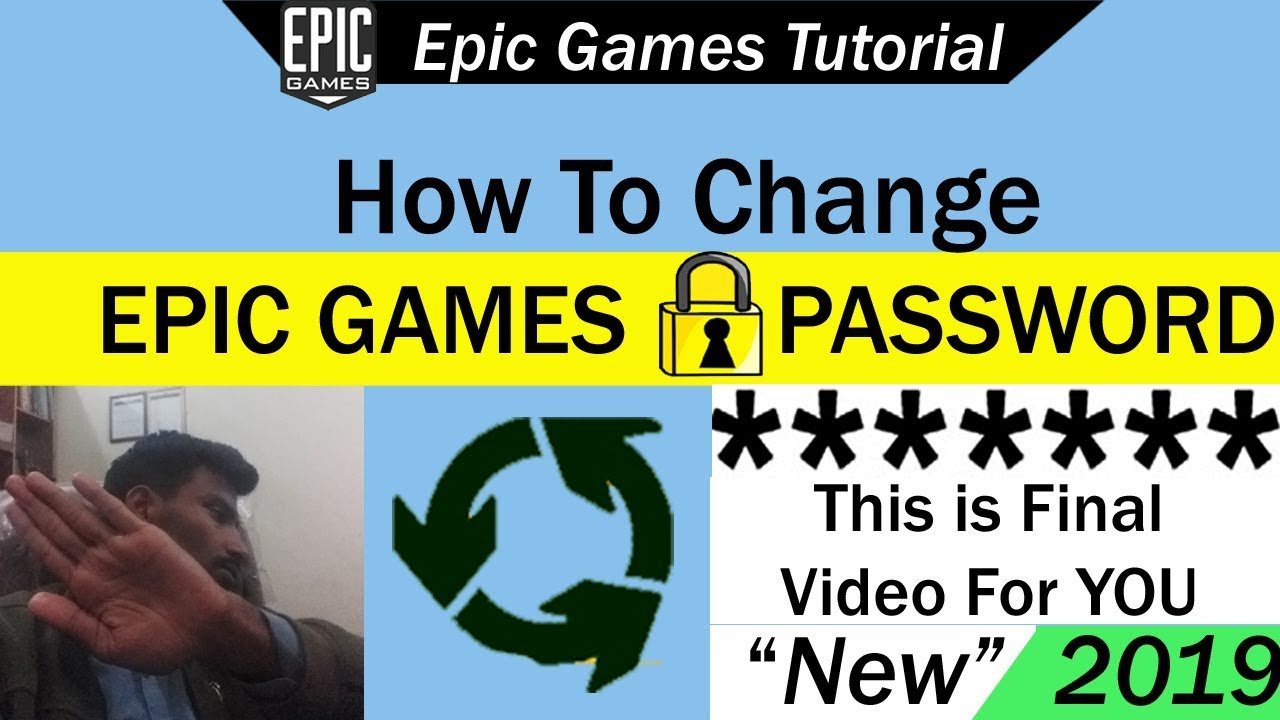 How To Change Epic Games Password 2019 Youtube