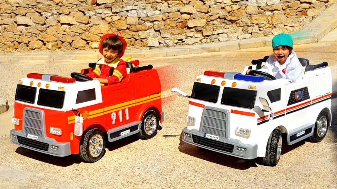 Download CENTRAL DE EMERGENCIA DANI Y EVAN 🚒BOMBEROS y 🚑AMBULANCIA al RESCATE! camiones para niños PEKECARS
