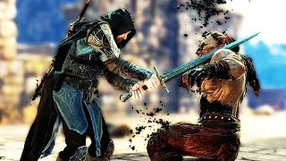 Middle Earth Shadow of Mordor Captain Battles & Brutal Sword Finishers