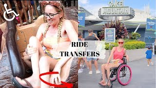 ♿️ WHEELCHAIR TRANSFER ON /OFF DISNEYS MAGIC KINGDOM RIDES | SPACE, THUNDER, SPLASH MOUNTAIN & MORE