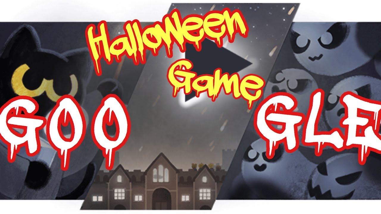2016 Google Halloween Logo Game/Google首頁 萬聖節小遊戲/Google Doodle - YouTube