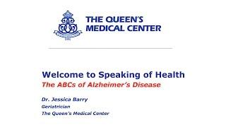 Speaking Of Health: ABCs of Alzheimer's Disease