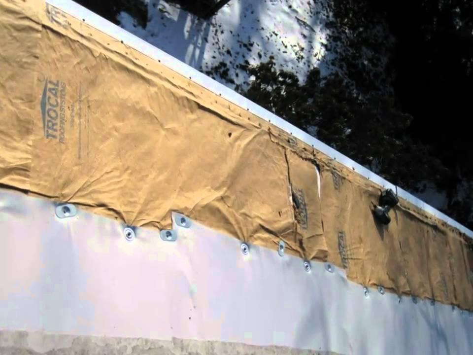 Trocal Pvc Flat Roof Repair Youtube
